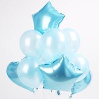 은박+고무 혼합 풍선세트(블루)