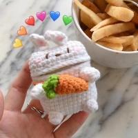 에어팟1 에어팟2 차이팟 겸용 토끼 뜨개 니트/340당근