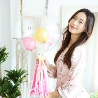 DIY 레터링 버블 벌룬 (핑크)
