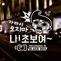 SET 가까이오지마 2탄 회오리 블랙박스 / 초보운전 반사스티커 자동차스티커