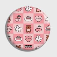 Check kids bear-pink(거울)