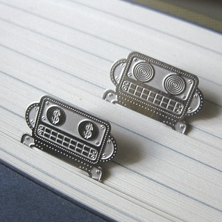 퍼니 로찌 책갈피 (5개 1세트) - metal bookmark