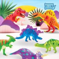 해피플레이 로버드 입체퍼즐 공룡 클레이 장난감