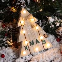 LED 물방울전구 크리스마스 우드데코 (트리)