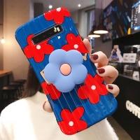 갤럭시노트10/플러스 플라워 스마트톡 실리콘 케이스