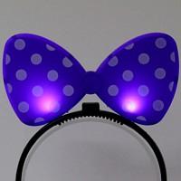 LED점등 리본머리띠 (라벤더)