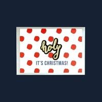 [자수패치 크리스마스카드] 02골드홀리