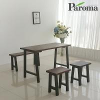 파로마 루갈 4인용 원목 식탁세트 (식탁+벤치2) ET32