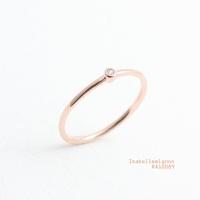 [이자벨미뇽] 원포인트 큐빅 반지 RA10089