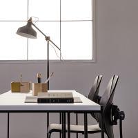 바인츠 화이트 테이블1200+슬림체어(책상+의자)
