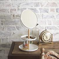 화이트 화장대 탁상 거울 ( 스탠드 책상 테이블 )