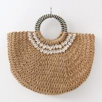 Rattan Shell Tote Bag