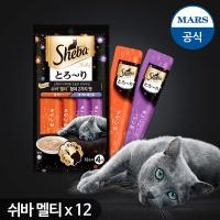 짜먹는 고양이간식 쉬바 멜티48g(12gx4)x12팩