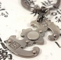 장석열쇠고리-박쥐문양
