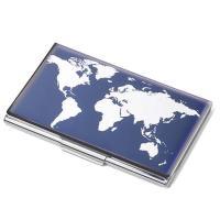 Troika WORLD MAP 크롬도금 명함케이스 CH1523596