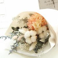[더봄/프리저브드플라워] 목화&수국꽃다발