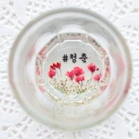 핸드메이드 압화소주잔-안개감성 2P/4P (6컬러)