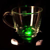 LED 발광 컵받침 (블랙)