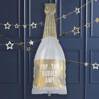 골드 샴페인병 모양 커스텀 호일풍선 foil balloon