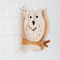 부엉이 자작나무양면시계-Owl Double Clock(W)