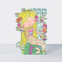 리틀달링 - 인어공주 생일 카드 [DAR6]