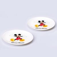디즈니 미키 컬러 디저트 접시 2PCS [LB0009]
