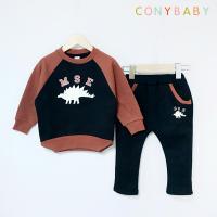 [CONY]공룡블랙 기모맨투맨 상하복세트