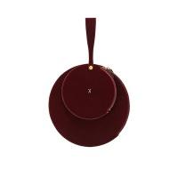 OZ 2 Round Clutch Velvet Red