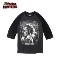 CARVED RAGLAN T-SHIRTS (BLACK)