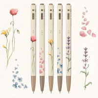 모나미 153 플라워(Flower) 5본세트 (0.5mm)