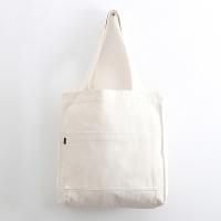투포켓 심플 캔버스 숄더백 R51-001 아이보리