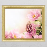 cj832-나비와꽃_창문그림액자