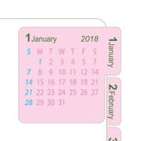2018 달력스티커 pink
