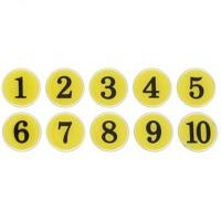번호판 1-200 (노랑) 10개입1세트(1100) 안내판 표지판