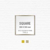 [골드원목프레임] 골드 액자 Type A - 정사각형 30X30