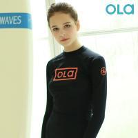 [OLA]올라 여성 블랙 래쉬가드 P00000BK 서핑/수영복/비치웨어