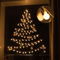 어반 LED 앵두전구 크리스마스 벽트리 장식 세트