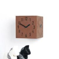 삼면입체시계-브라운