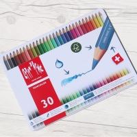 까렌다쉬 전문가용 수채색연필-팬컬러 30색 메탈박스
