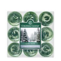 [1+1(랜덤)증정] COLONIAL CANDLE 706 티라이트 9pk 캔들 겨울 숲