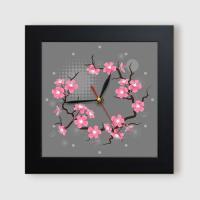 ct801-활짝핀벚꽃_미니액자벽시계
