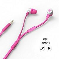 에어로폰 마이크/리모트기능 플랫케이블 이어폰 - MQGT26[핑크]