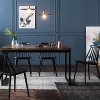 [채우리] 로빈 아카시아원목 4인식탁세트(의자)