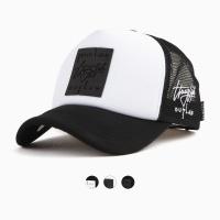 [디꾸보]러버 직사각 박스 메쉬 볼캡 모자 ET724