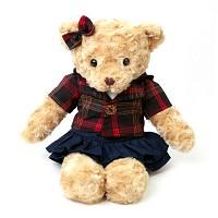 신체크후드 테디베어-여자곰(소형-브라운)