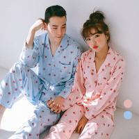 [쿠비카]DTY 베리 카라형 투피스 커플잠옷 WM151