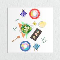 cq047-깔끔식사시간_하이앵글_소형노프레임