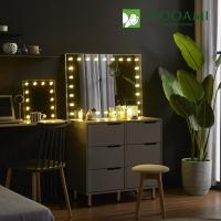 [우아미] 퍼블릭 LED 직사각 화장대 거치 거울
