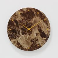 (khyn006)저소음 대리석디자인 시계 도트 (브라운)