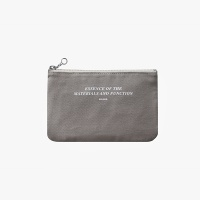 Slim pouch wallet(M)-Gray